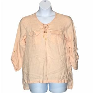 Ellen Tracy Co Linen Tunic size large